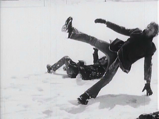 "film still from ""Iowa Blizzard '73"" by Elaine Summers. used with kind permission of the Artistic Estate of Elaine Summers. All rights reserved."